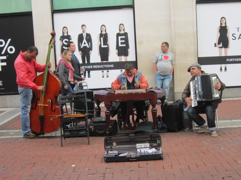 Street musicians, London
