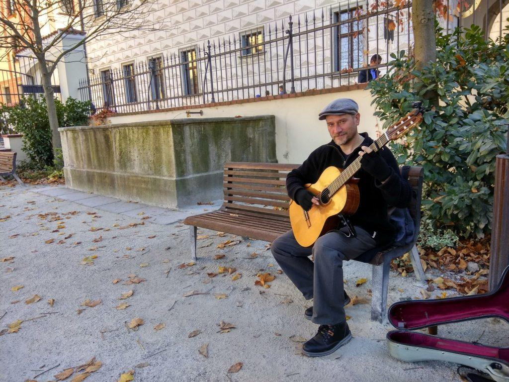 Guitarist at Cesky Krumlov, Czech Republic