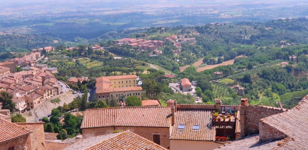Bird's eye view of Montepulciano