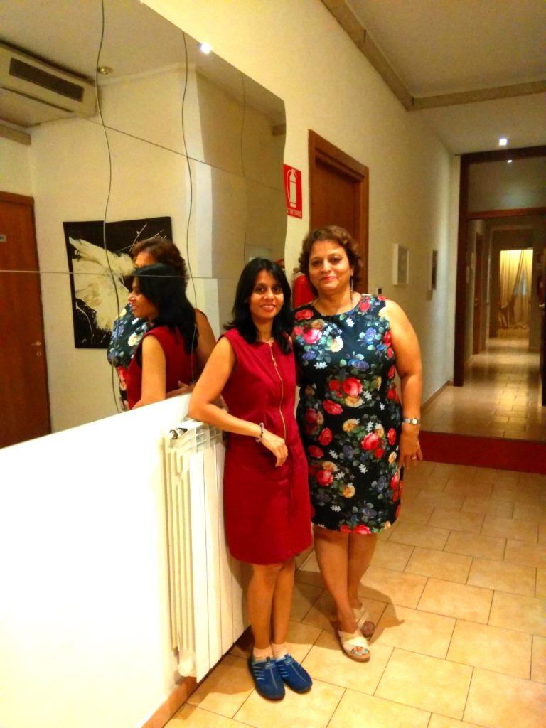 Maria with Manjiri - Milan