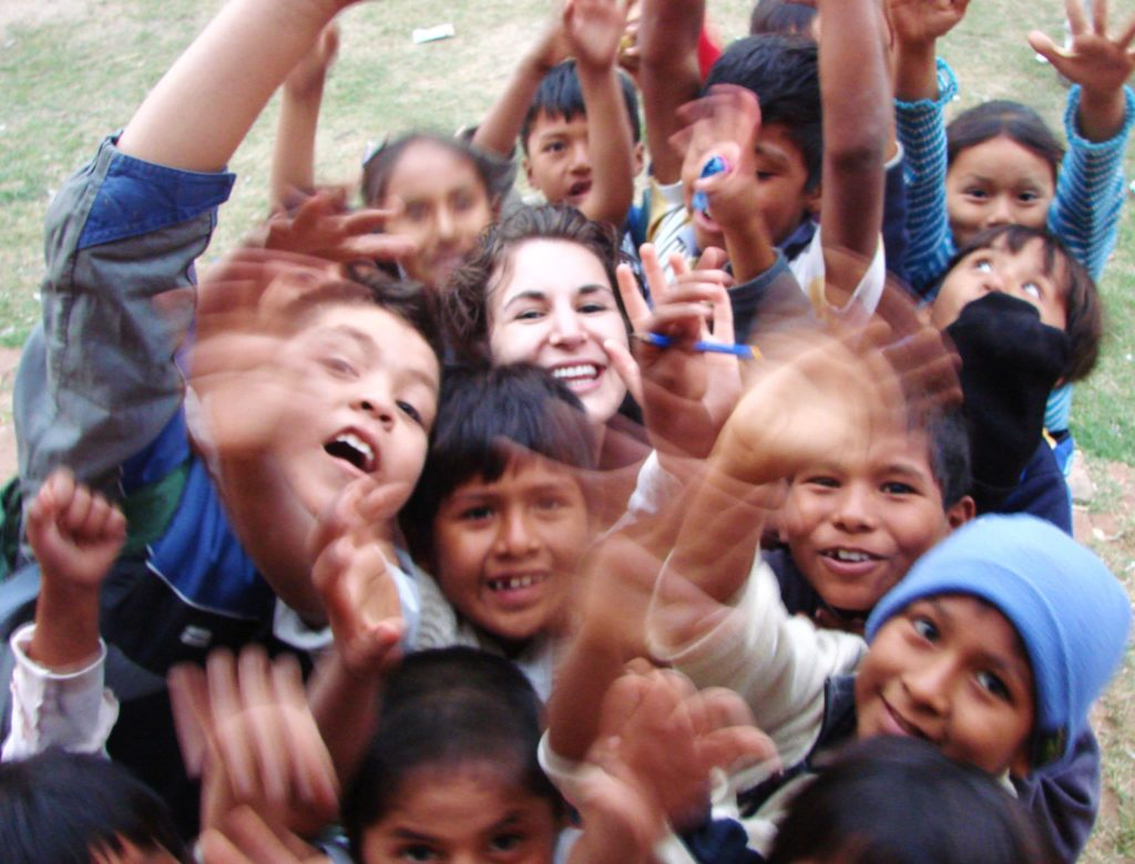 Visiting School Kids in Bolivia
