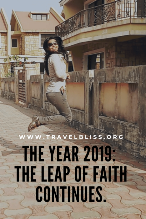 The Year 2019 - The Leap of Faith Continues.